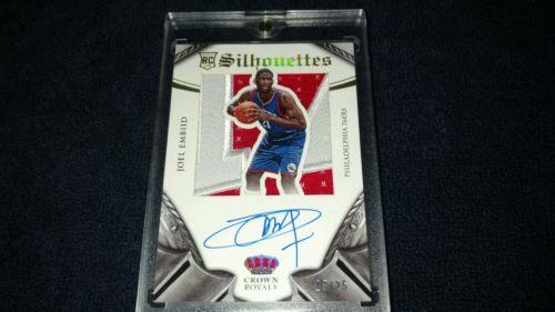 20142015 Panini Preferred Basketball Rookie Silhouettes Prime Joel Embiid 2325