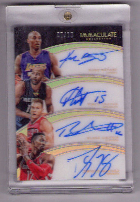201516 IMMACULATE QUAD AUTO KOBE BRYANT BLAKE GRIFFIN VINCE CARTER HOWARD 10