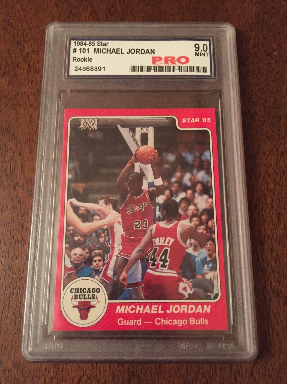 198485 Star Michael Jordan XRC RC 101 Rookie Card 8485 Pro Graded 90 Mint 9