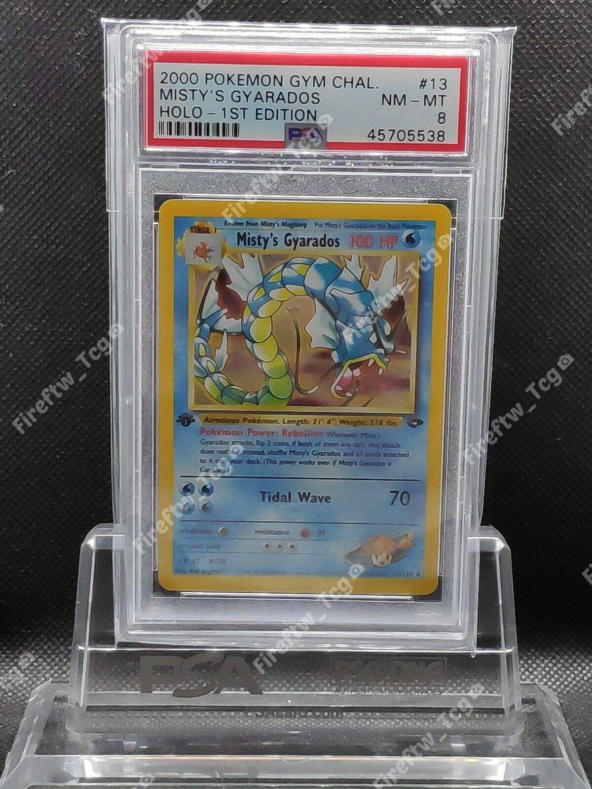 Pokemon Card Gym Challenge 1st Edition PSA 8 MINT Mistys Gyarados Holo 13132