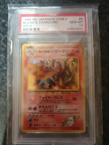 Pokemon Japanese Blaines Charizard PSA 10 Gym Series