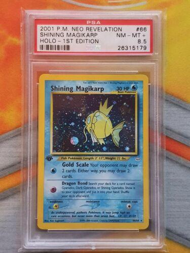 Pokemon PSA 85 1st Editie Shining Magikarp Neo