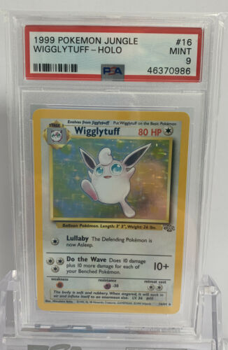 1999 Jungle Wigglytuff 1664 Holo PSA 9 Mint WOTC Rare Unlimited Pokemon Card