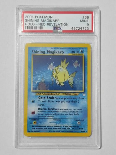 PSA 9 Shining Magikarp Holo 6664  Neo Revelation Pokemon Card MINT