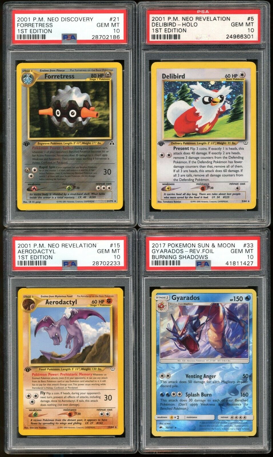 Lot 12 Pokemon all PSA 10 199920002001 Delibird Holo 1st Edition Raremore