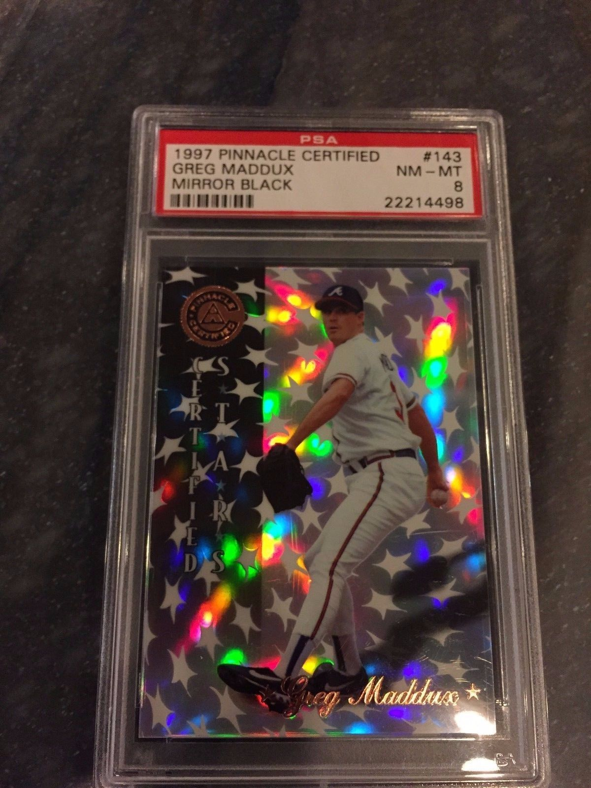 1997 Pinnacle Certified Mirror Black Greg Maddux 11