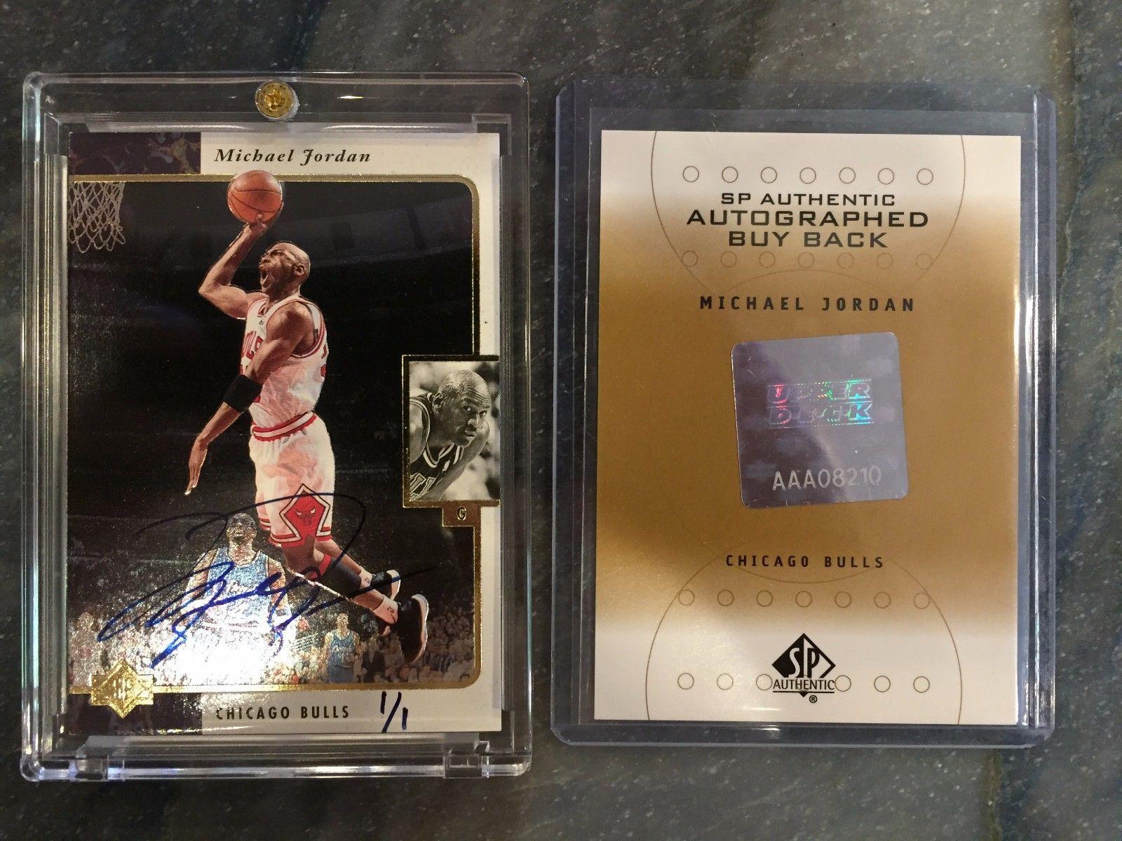 1995 1996  SP Authentic Buyback michael jordan Autograph Signature