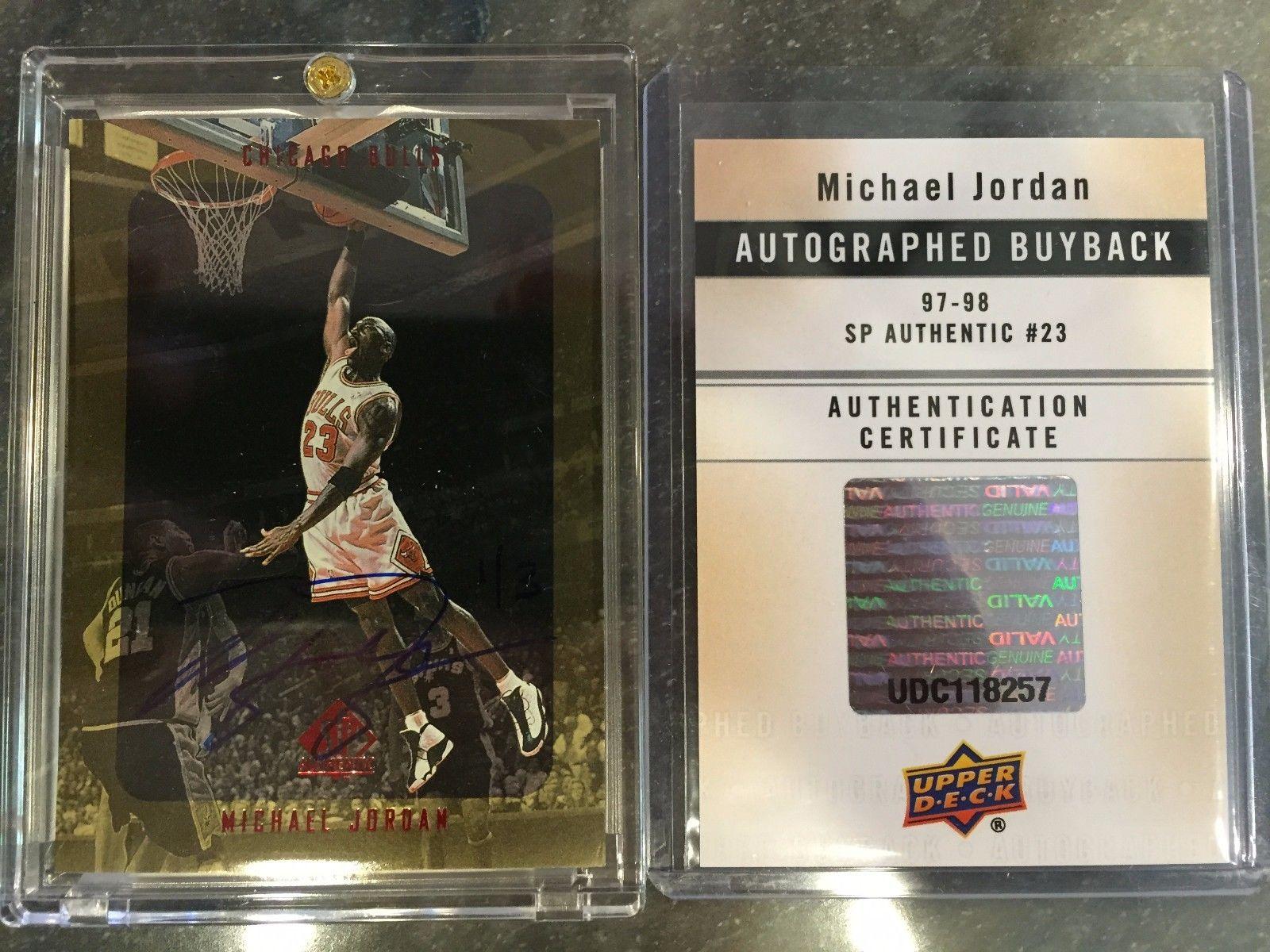 1997 1998 SP Authentic Buyback michael jordan Autograph Signature