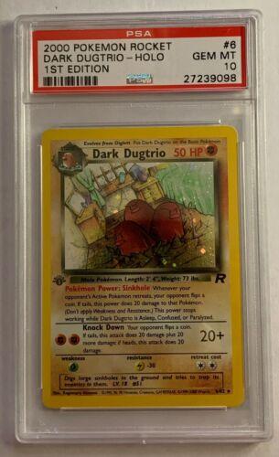 PSA 10 1st edition Dark Dugtrio 682 Team Rocket Pokemon Card Short Auction 1d