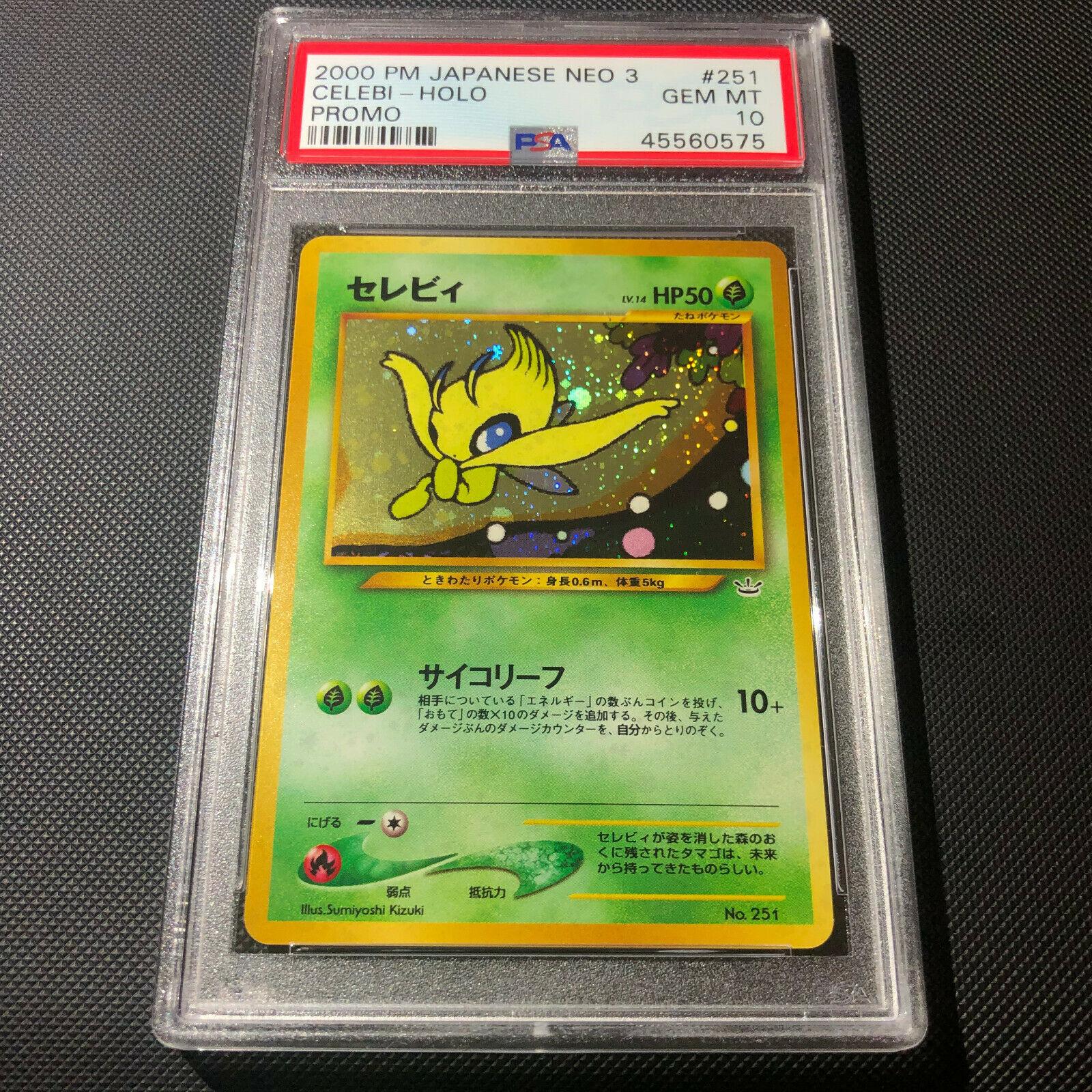 PSA 10  Japanese Holo Celebi Neo 3 Revelation 2000 Promo No 251 Pokemon Card