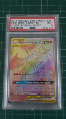 Charizard braixen 251236 Cosmic eclipse PSA 9 Pokemon Card