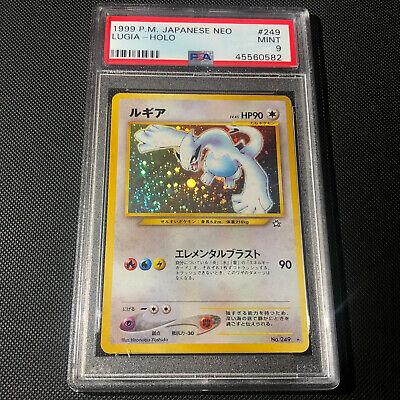 PSA 9  Japanese Holo Lugia WOTC Neo 1 Genesis 1999 No 249 Pokemon Card