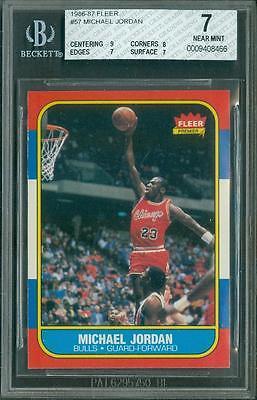 1986 Fleer Michael Jordan 57 BGS 7 Centering 9 Corner 8 Rookie HOF Could PSA