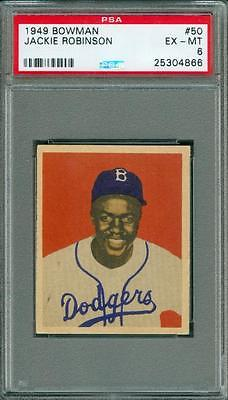 1949 Bowman Jackie Robinson 50 PSA 6 Rookie Great Color and Centering Easy 7