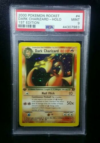 Dark Charizard Holo 1st Edition PSA 9 MINT Pokemon Card 2000 Rocket