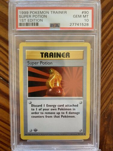 1999 1st Edition Super Potion Trainer  Shadowless Base  PSA 10 Pokemon Card