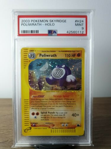 Pokemon Skyridge Holo Poliwrath PSA 9 Mint Rare Card