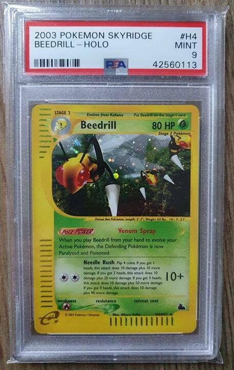 Pokemon Skyridge Holo Beedrill PSA 9 Mint Rare Card