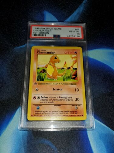 PSA 10  1999 Pokemon Game Base 1st Edition Charmander 46102  GEM MINT