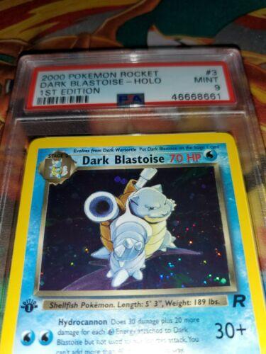 PSA 9 MINT Dark Blastoise 382 1ST EDITION Team Rocket HOLO RARE Pokemon Card