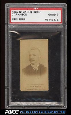 1887 N172 Old Judge Cap Anson CHICAGOES PSA 2 GD PWCC