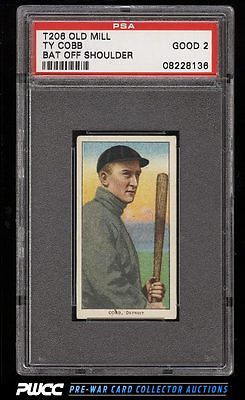 190911 T206 Ty Cobb BAT OFF SHOULDER OLD MILL PSA 2 GD PWCC