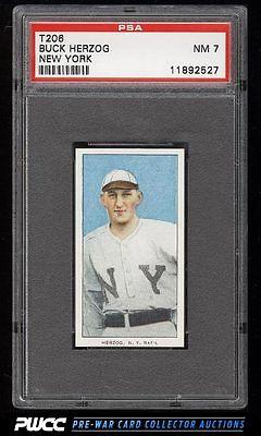 190911 T206 Buck Herzog NEW YORK PSA 7 NRMT PWCC