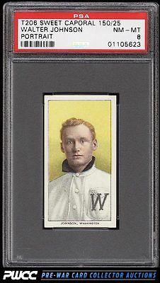 190911 T206 Walter Johnson PORTRAIT PSA 8 NMMT PWCC