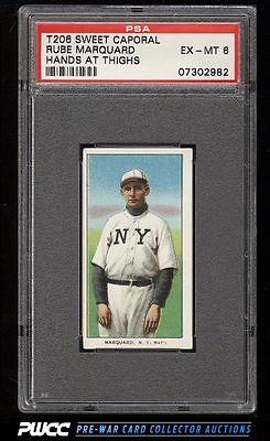 190911 T206 Rube Marquard HANDS AT THIGHS PSA 6 EXMT PWCC