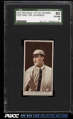 1912 T207 Brown Background Walter Johnson SGC 680 EXMTPWCC