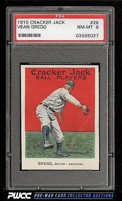 1915 Cracker Jack Vean Gregg 29 PSA 8 NMMT PWCC
