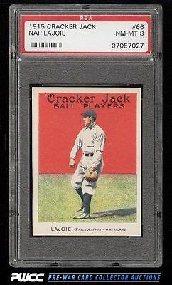 1915 Cracker Jack Nap Lajoie 66 PSA 8 NMMT PWCC