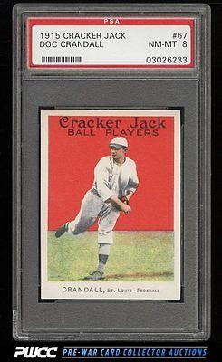 1915 Cracker Jack Doc Crandall 67 PSA 8 NMMT PWCC