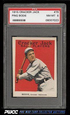 1915 Cracker Jack Ping Bodie 79 PSA 8 NMMT PWCC