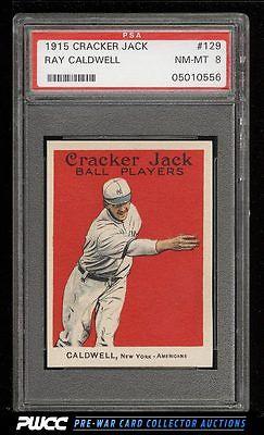 1915 Cracker Jack Ray Caldwell 129 PSA 8 NMMT PWCC