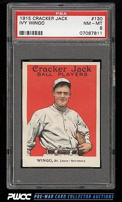 1915 Cracker Jack Ivy Wingo 130 PSA 8 NMMT PWCC