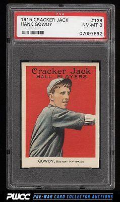 1915 Cracker Jack Hank Gowdy 138 PSA 8 NMMT PWCC