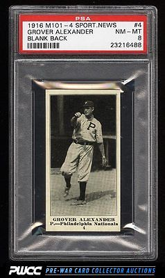 1916 M1014 Sporting News Grover Cleveland Alexander 4 PSA 8 NMMT PWCC