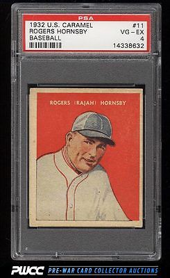1932 US Caramel Rogers Hornsby 11 PSA 4 VGEX PWCC