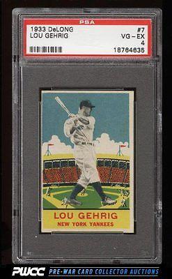 1933 DeLong Lou Gehrig 7 PSA 4 VGEX PWCC