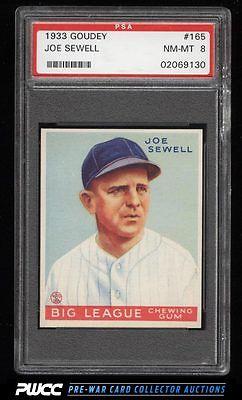 1933 Goudey Joe Sewell 165 PSA 8 NMMT PWCC