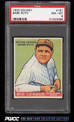 1933 Goudey Babe Ruth 181 PSA 8 NMMT PWCC