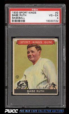 1933 Goudey Sport Kings Babe Ruth 2 PSA 4 VGEX PWCC