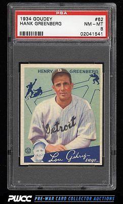 1934 Goudey Hank Greenberg 62 PSA 8 NMMT PWCC