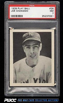 1939 Play Ball Joe DiMaggio 26 PSA 7 NRMT PWCC