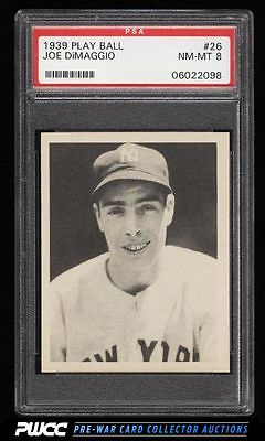 1939 Play Ball Joe DiMaggio 26 PSA 8 NMMT PWCC
