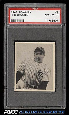 1948 Bowman Phil Rizzuto SP ROOKIE RC 8 PSA 8 NMMT PWCC