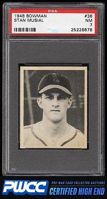 1948 Bowman Stan Musial ROOKIE RC 36 PSA 7 NRMT PWCCHE
