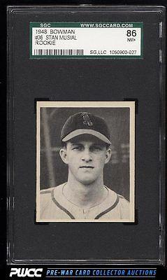 1948 Bowman Stan Musial ROOKIE RC 36 SGC 7586 NRMT PWCC
