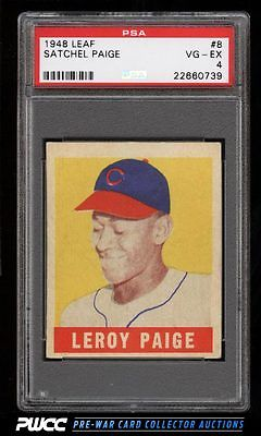 1948 Leaf Satchel Paige SP ROOKIE RC 8 PSA 4 VGEX PWCC
